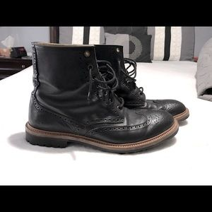 Paul Smith classic brogued leather ankle boots.